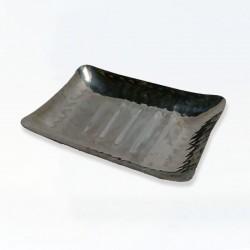 Porte savon cuivre martelé étamé carré - 135x135x20mm
