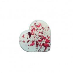 Boule de bain cœur à la rose