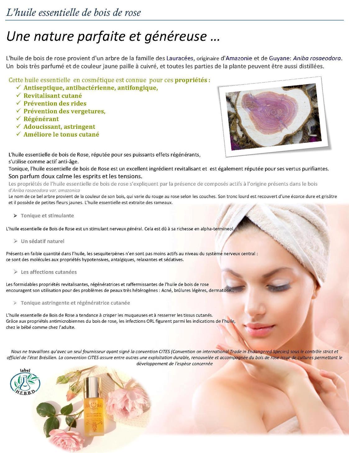 En savoir plus sur l'huile essentielle de bois de rose