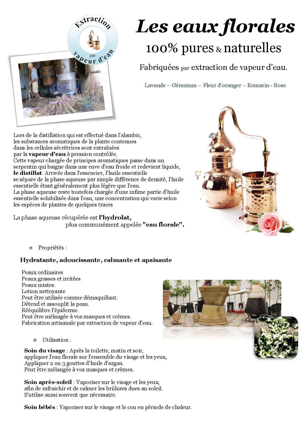 fabrication artisanale eaux florales