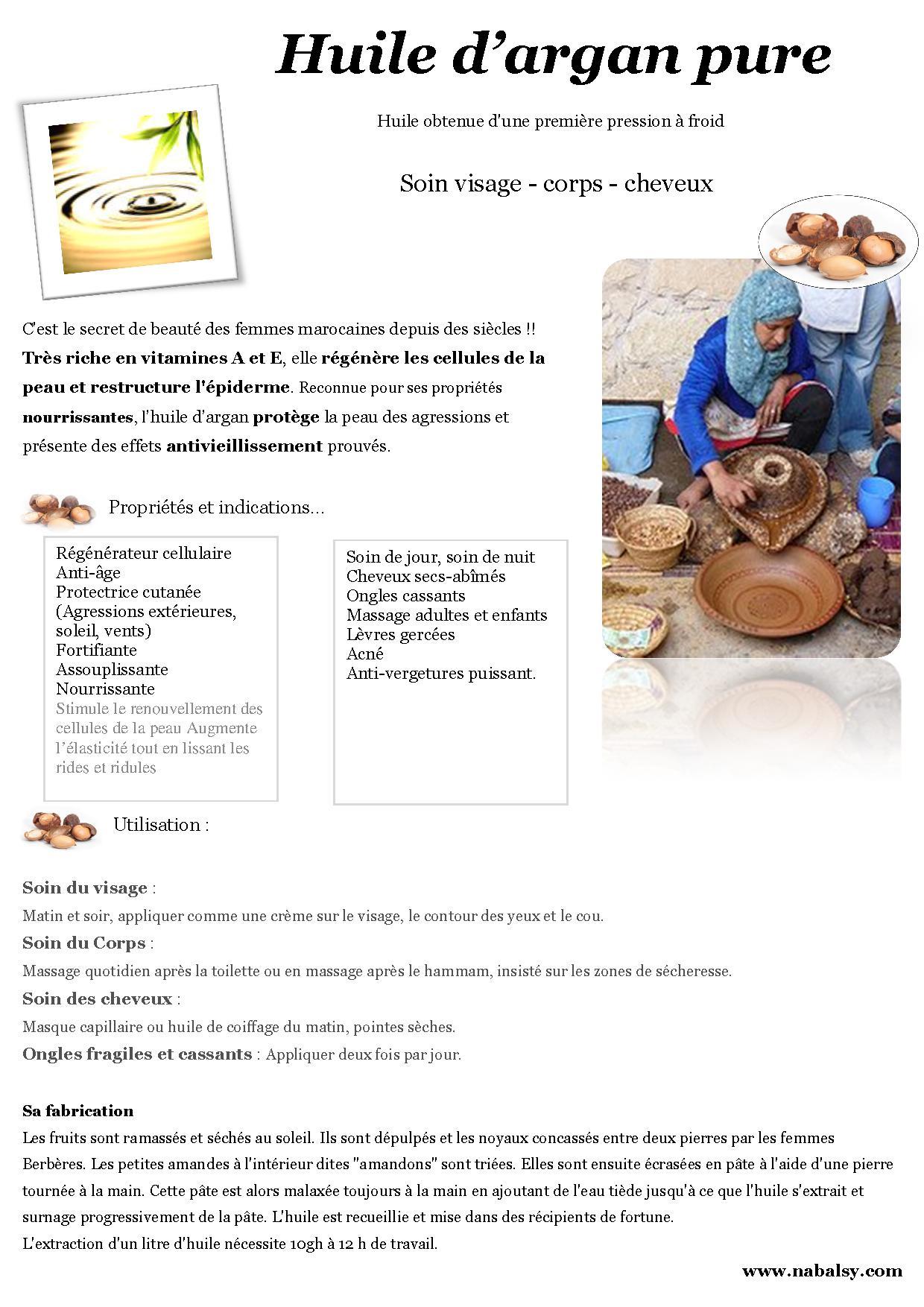 huile d'argan - nabalsy.com