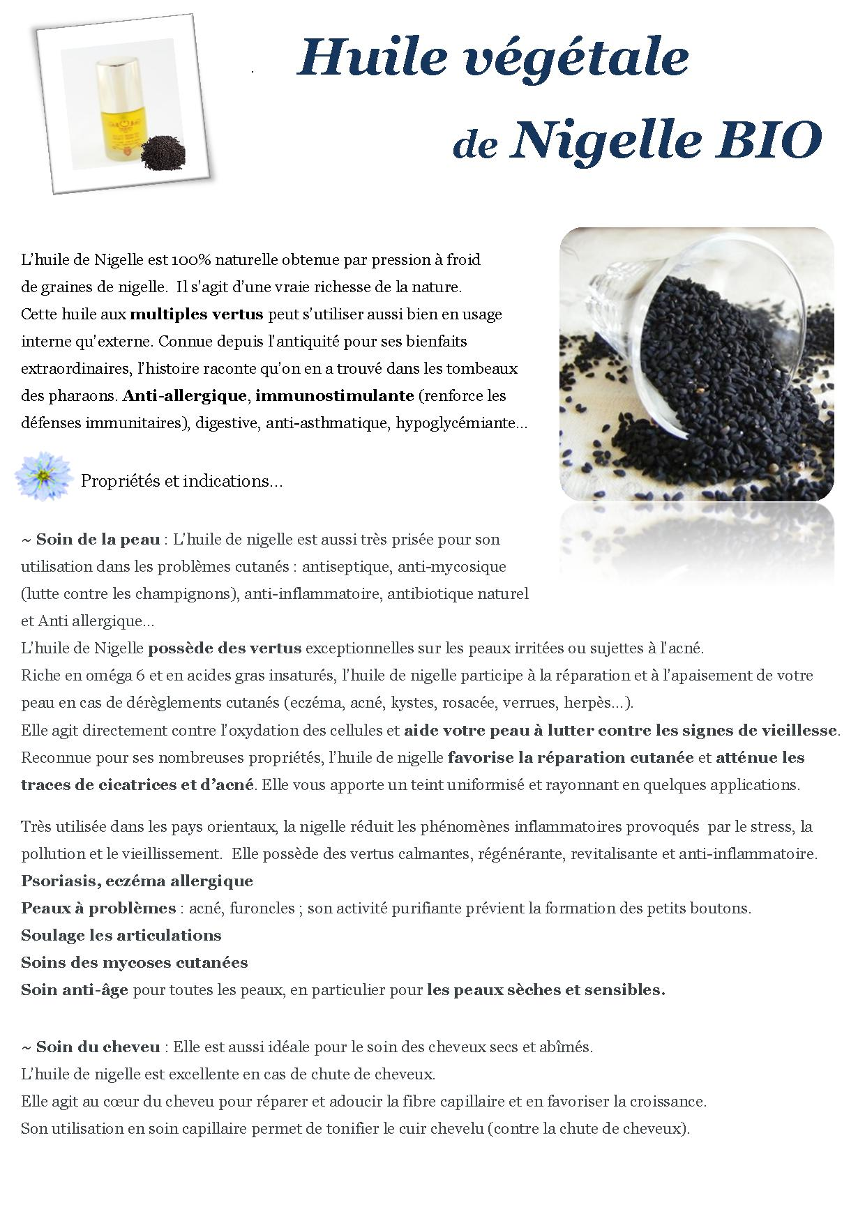 huile végétale de nigelle BIO - nabalsy.com