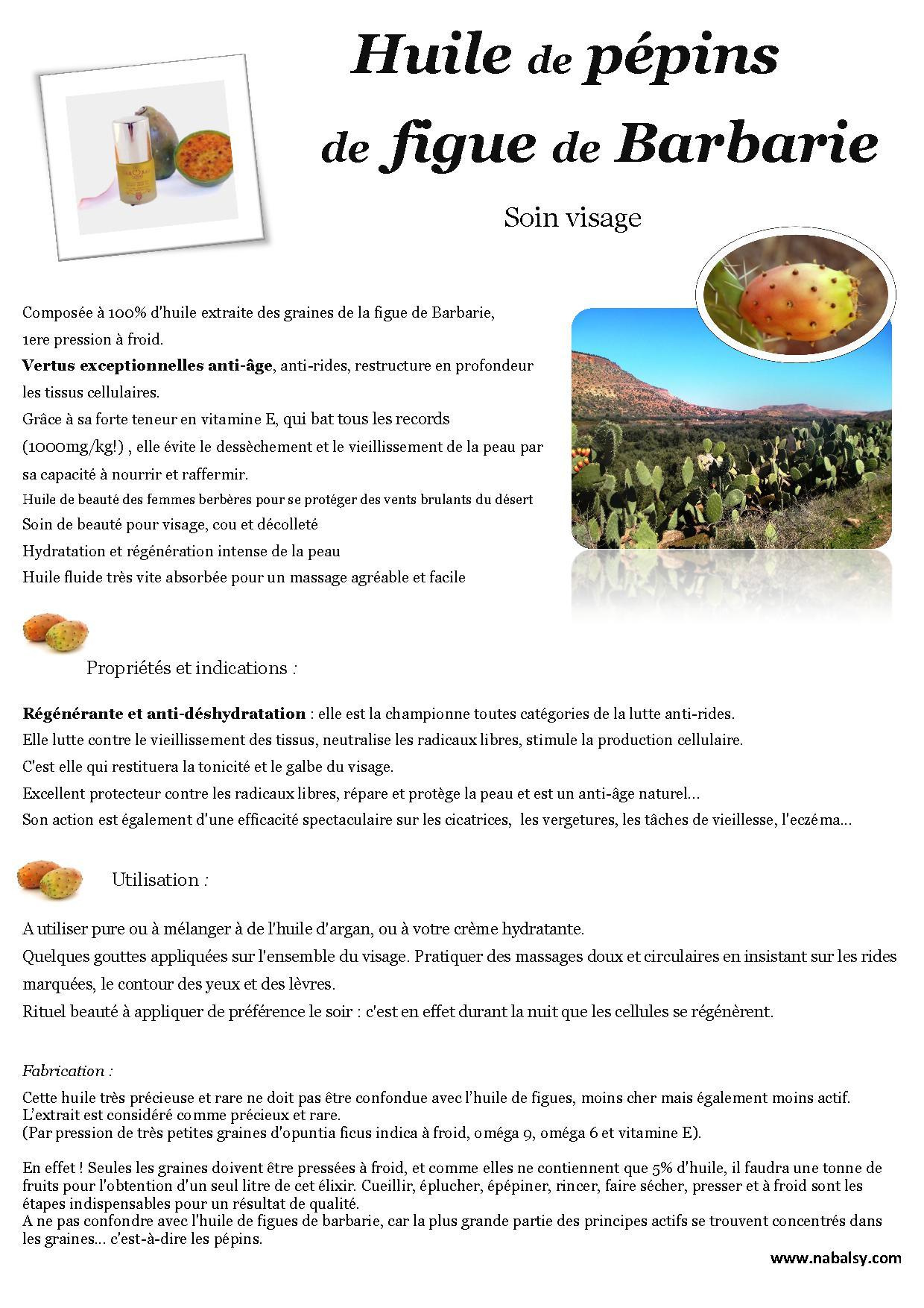 huile de pépin de figue de Barbarie - nabalsy.com