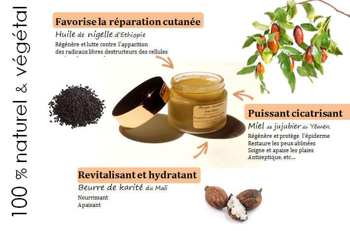 Masque réparateur miel, nigelle & karité